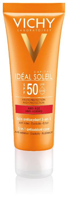 Vichy Ideal Soleil Anti-Age Creme LSF50 bei Valsona online..